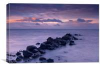 Kildonan sunset, Arran, Canvas Print