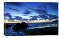 croyde bay at dusk