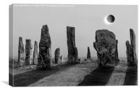 Solar Eclipse Callanish Standing Stones, Canvas Print