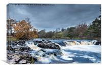 Autumn Colour Low Force Waterfall Teesdale, Canvas Print