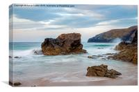 Sango Bay Durness North Coast of Scotland , Canvas Print