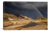 Clearing Storm Barmur Mountains, Landmannalaugar, , Canvas Print