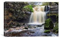 Summerhill Force and Gibson's Cave Teesdale, Canvas Print