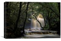 Mystical Stream, Summerhill Force, Bowlees, Upper,, Canvas Print