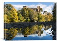 Barnard Castle Autumn, Teesdale, County Durham UK., Canvas Print