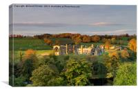 Morning Light Illuminating Egglestone Abbey, Teesd, Canvas Print