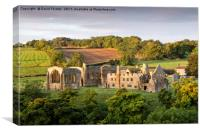 Autumn Light Egglestone Abbey, Canvas Print