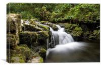 Waterfall, Hudeshope Beck, Teesdale, Canvas Print