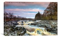 Low Force Upper Falls, River Tees, Teesdale, Canvas Print