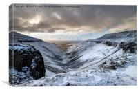 High Cup Nick in Winter, Cumbria, Canvas Print