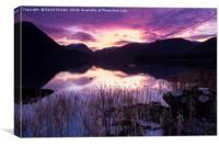 Ullswater Sunset, Lake District, Cumbria, UK, Canvas Print