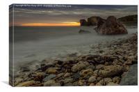 Sunrise over Graham Sands (2), Canvas Print