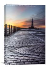 Sunrise at Roker Pier, Canvas Print
