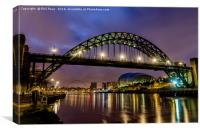 The Tyne Bridge at Newcastle, Canvas Print