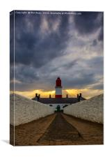 Shafts of light at Souter, Canvas Print