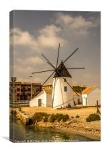 Spanish windmill, Canvas Print