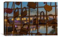 Love locks, Canvas Print