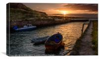 Sunset over the harbour, Canvas Print