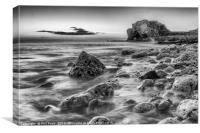 Dawn on the horizon (black & white), Canvas Print