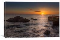 Sunrise at South Shields, Canvas Print