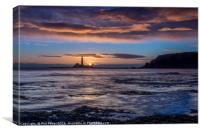 St Mary`s island at sunrise, Canvas Print