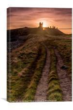 Dunstanburgh Castle at sunrise, Canvas Print