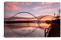 The Infinity Bridge, Teesside at sunrise, Canvas Print