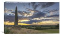Hoo hill monument, warwickshire, Canvas Print