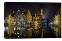 A time for Reflection in Brugge, Canvas Print