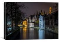 Bruges lights, Canvas Print