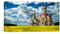 Russian orthodox church, Canvas Print