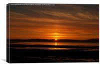 Ayr sunset looking towards Isle of Aaron, Canvas Print
