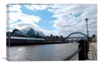 River Tyne, Sage and Tyne Bridge - Newcastle, Canvas Print