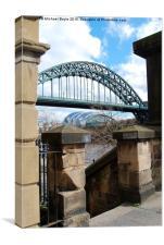 Tyne Bridge through the steps, Canvas Print