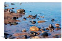Rocks on the beach, Canvas Print