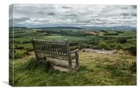 Nice seat for a great view, Canvas Print