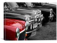 A red mini with others, Canvas Print