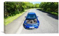 Blue Vauxhaull VXR8, Canvas Print