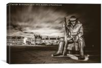 Tommy In Seaham, Canvas Print