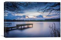 Jetty at lakeside, Canvas Print