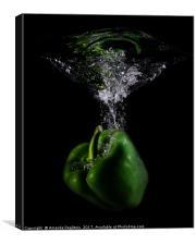 green pepper, Canvas Print