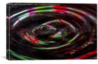 water drop ripples, Canvas Print