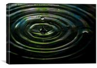 water drop, Canvas Print