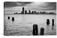 Moody Skies over New York, Canvas Print