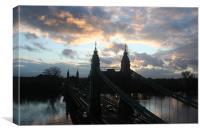 Hammersmith Bridge - sunset & high tide 26