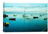 High TIde in Penclawdd (Loughor Estuary) Xmas morn, Canvas Print