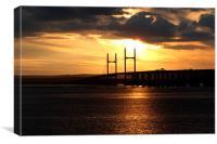 Severn Estuary sunset, Canvas Print