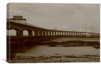 Second Severn Crossing over the Severn Estuary, Canvas Print