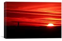 Lammas Sunrise over the Avon Gorge, Bristol UK, Canvas Print