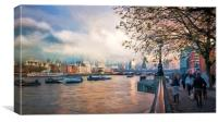 London and The THames, Canvas Print